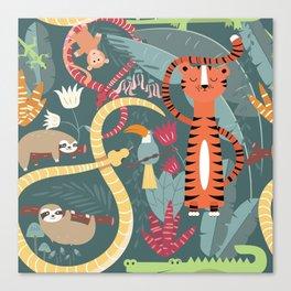 Rain forest animals 003 Canvas Print