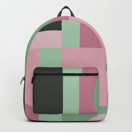 Art Deco Composition Pink and Green #5 Backpack