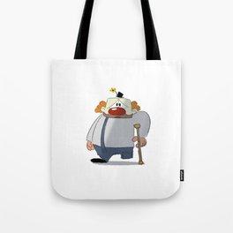 Sad, One-Legged Clown Tote Bag