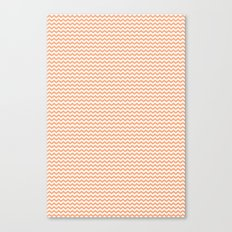 Chevron Orange Canvas Print