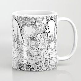 Three moles came to the city, and walking in the park Coffee Mug