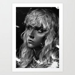 The White Hawk Art Print
