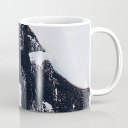 Bird: Acrylic expressionistic piece, in black, red, yellow, blue and white. Coffee Mug
