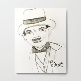David Suchet as Hercule Poirot Metal Print