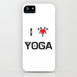 I heart Yoga iPhone Case