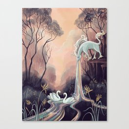Barfing Unicorn Canvas Print