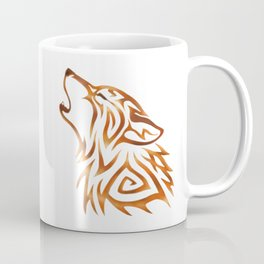 Tribal Wolf Howl Autumn Flame Coffee Mug