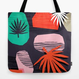 Dank - memphis style 80's throwback neon shape palm house plant retro vintage decor hipster art Tote Bag