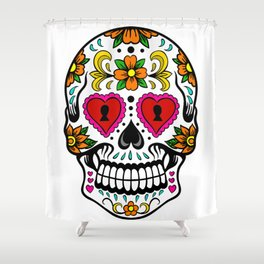 Sugar Skull 14 Shower Curtain