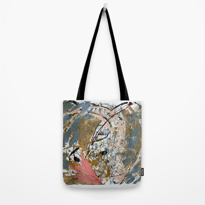 Symphony [2]: colorful abstract piece in gray, brown, pink, black and white Tote Bag