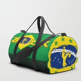 lets dance brazilian zouk flag design Duffle Bag