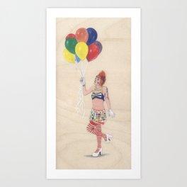 Clown Loren Art Print