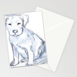 Pit Bull Puppy (for Kerry), watercolor Stationery Cards