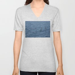 Lucky fishers-puffins Unisex V-Neck