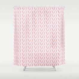 Coral XOXO Shower Curtain