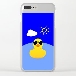 Cool Rubber Duck Clear iPhone Case