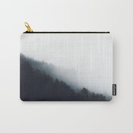 Fog over forest diagonal layers Carry-All Pouch