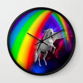 Unicorn & Rainbow Wall Clock