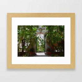 Gate in Vizcaya Framed Art Print