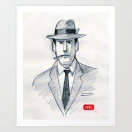 Mad Man (drawing) Art Print