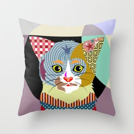Spectrum Cat Throw Pillow