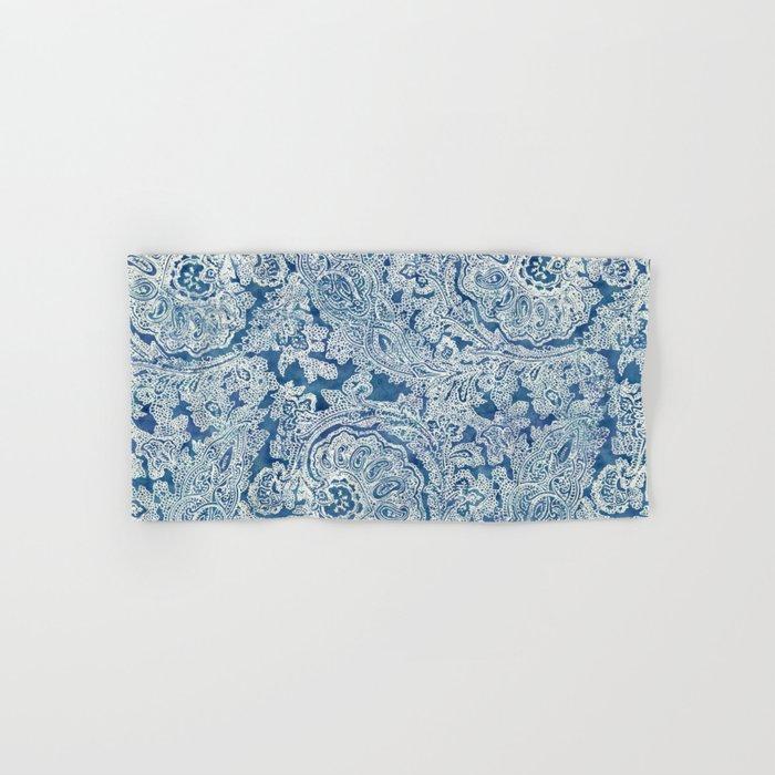 Blue Boho Paisley Pattern Hand & Bath Towel