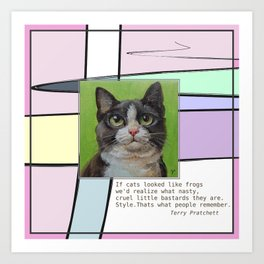 Cat Quote Art Print