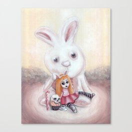 Ester and Bunny Canvas Print