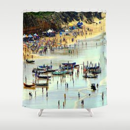 Rowing Regatta Shower Curtain