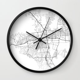 Minimal City Maps - Map Of Reno, Nevada, United States Wall Clock