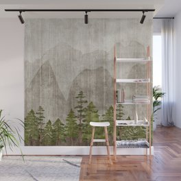 Mountain Range Woodland Forest Wall Mural