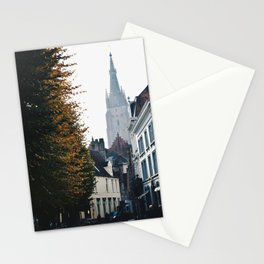 On the Streets of Bruges Stationery Cards