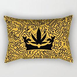 """Uptown Growlab """"Calm in the Chaos"""" Cannabis Crown Print  Rectangular Pillow"""
