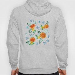 Dark Floral: Marigolds and Borage Hoody
