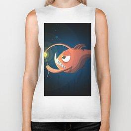 Good Night by Angler Fish Biker Tank