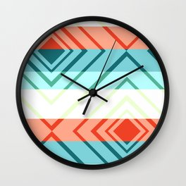 Diamond shadows and stripes Wall Clock