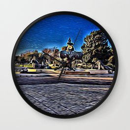 King's Fountain Wall Clock