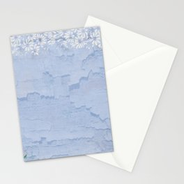 Rustic pale blue parchment paper Stationery Cards