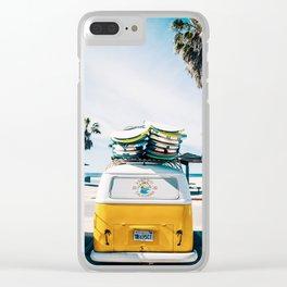 Surfing van Clear iPhone Case