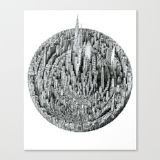 Particle (cityscape) Canvas Print