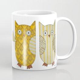 4 Gold Owls Coffee Mug
