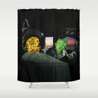 rap Shower Curtains featuring white girl rap by john muyargas