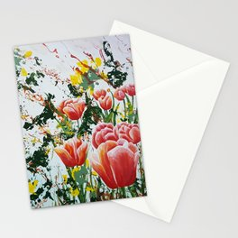 Edge of a tulip garden Stationery Cards