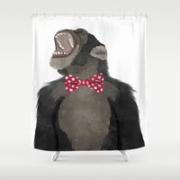 monkey Shower Curtains featuring Monkey by Made By Mary