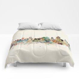 tulsa oklahoma skyline Comforters
