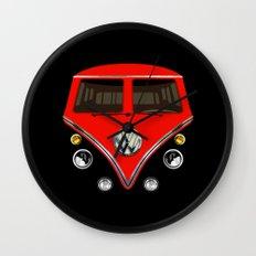 Sale for charity! Red VW volkswagen mini van bus kombi camper iphone 4 4s 5 5c & galaxy s4 case Wall Clock