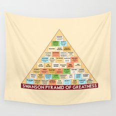 ron swanson's pyramid of greatness Wall Tapestry