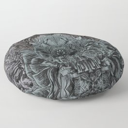 Skull Peaces Floor Pillow