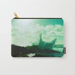 Pebble Beach Waves // California Carry-All Pouch
