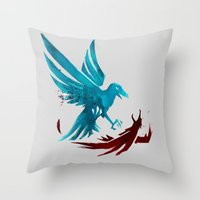 infamous Throw Pillows featuring Infamous Second Son - Good Karma Delsin Rowe by MarcoMellark